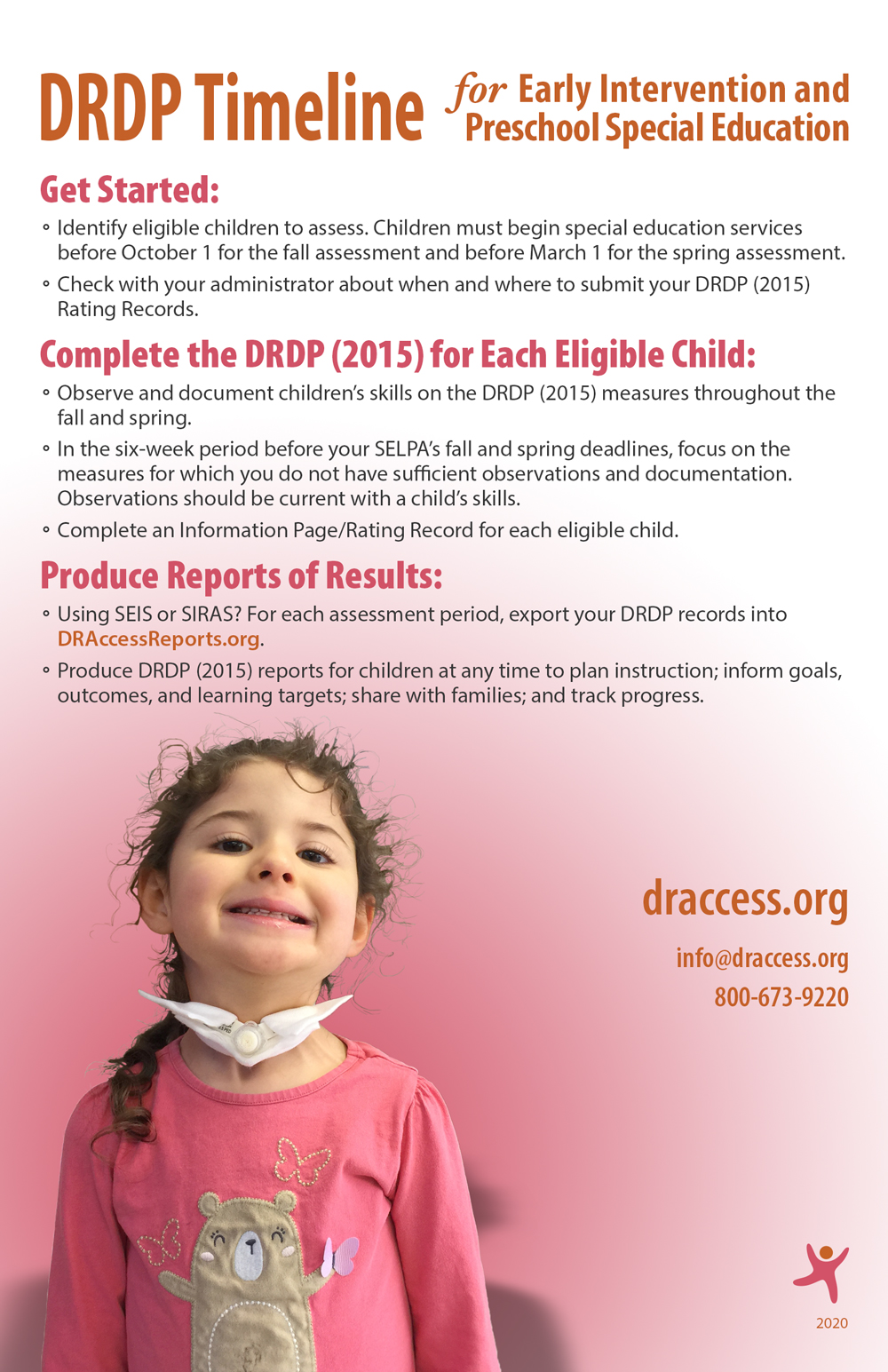 DRDP Timeline for Early Intervention and Preschool Special Education