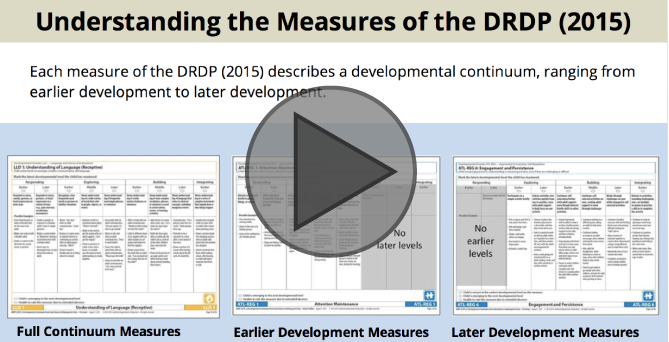 Interactive Tutorial: Understanding the Measures of the DRDP 2015