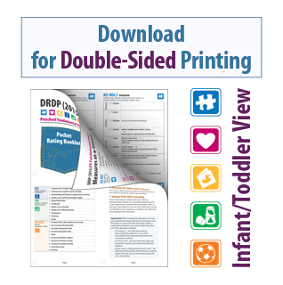 DRDP 2015 Pocket Rating Booklet Infant/Toddler View for Double-Sided Printing