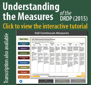 New Interactive Tutorial: Understanding the Measures of the DRDP 2015